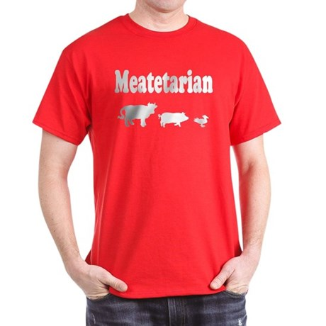 Meatetarian Red T-Shirt