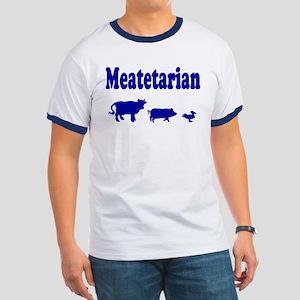 Meatetarian Blue Ringer T