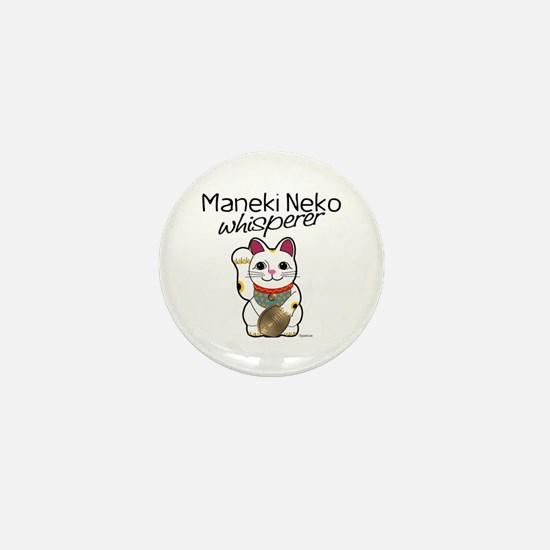 Maneki Neko Whisperer Mini Button
