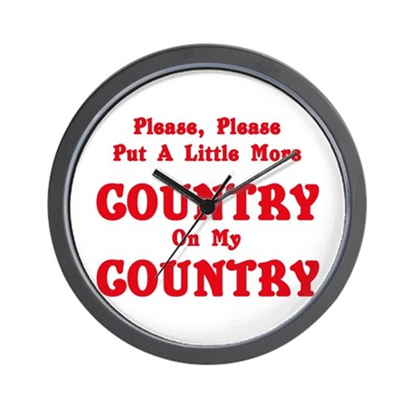 Country - More Country! Wall Clock