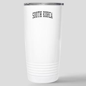 South Korea Black Stainless Steel Travel Mug