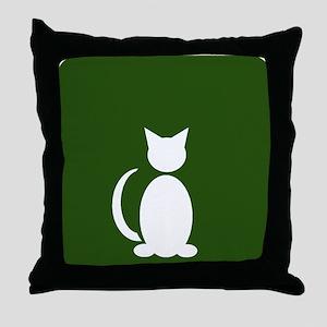 Cat Restroom: Cat Only Throw Pillow