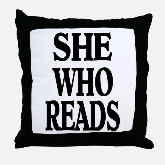 Unique Reader Throw Pillow