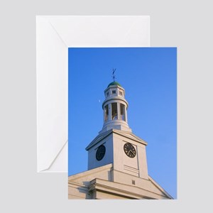 Church Clock Tower Greeting Card
