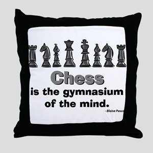 Chess Player Throw Pillow