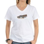 Steel Belted Radio Women's V-Neck T-Shirt