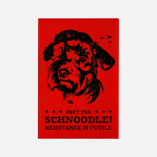 Obey the Schnoodle! Rectangle Magnet