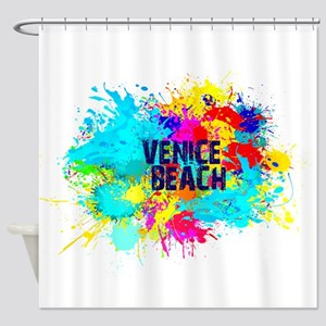 VENICE BEACH BURST Shower Curtain