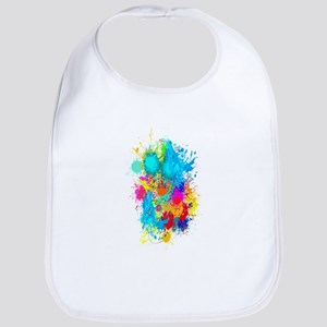 Colorful Vertical Burst Baby Bib