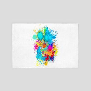 Colorful Vertical Burst 4' x 6' Rug