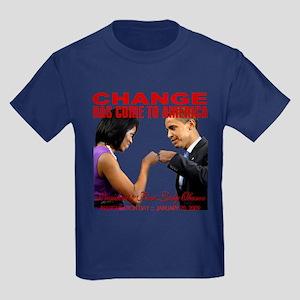 CHANGE-Fist Bump Kids Dark T-Shirt