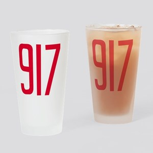917 Area Code Gift for Queens, Broo Drinking Glass
