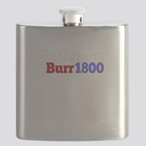 Thomas Jefferson and Aaron Burr Campaign for Flask