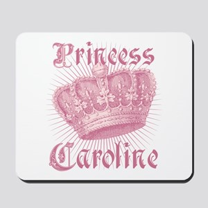 Vintage Princess Caroline Personalized Mousepad