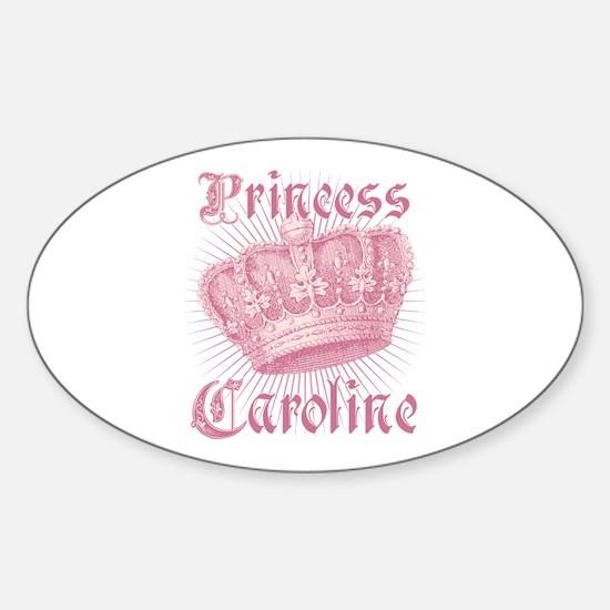 Vintage Princess Caroline Personalized Decal