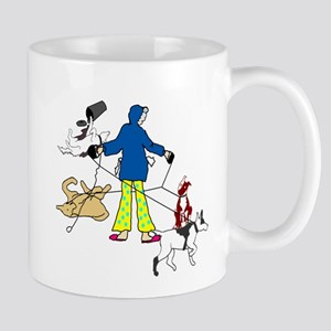 Walking Flyball Dogs Mug