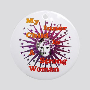 Inner Child Strong Woman Round Ornament