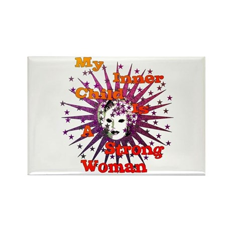 Inner Child Strong Woman Rectangle Magnet (100 pac