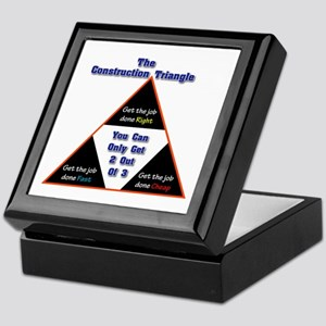 Construction Triangle Keepsake Box