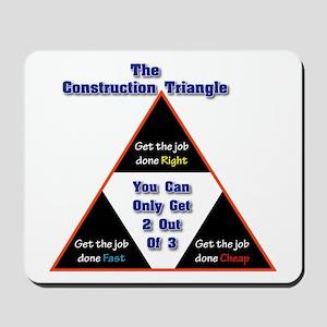 Construction Triangle Mousepad