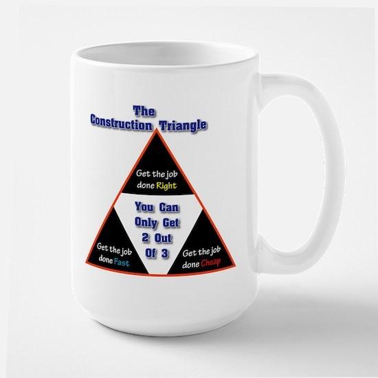 Construction Triangle Large Mug