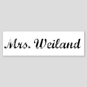 Mrs. Weiland Bumper Sticker