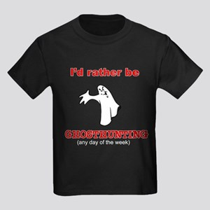 Rather Be Ghosthunting Kids Dark T-Shirt