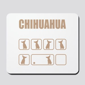 Stubborn Chihuahua Tricks design Mousepad