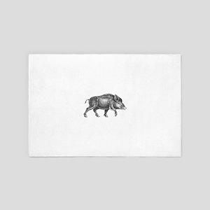 Wild Boar 4' x 6' Rug