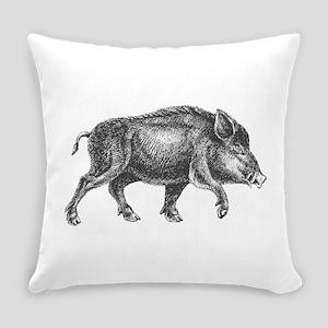 Wild Boar Everyday Pillow