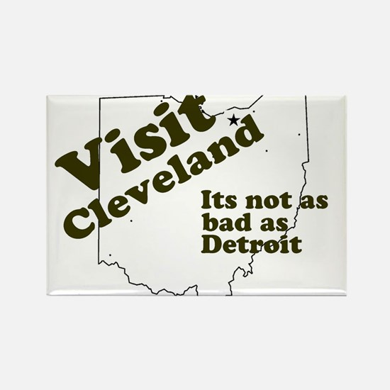 Visit Cleveland, Not as Bad a Rectangle Magnet