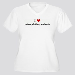 I Love haters, clothes, and c Women's Plus Size V-