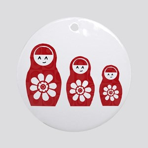 Riyah-Li Designs Nesting Dolls Three Ornament (Rou