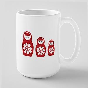 Riyah-Li Designs Nesting Dolls Three Large Mug