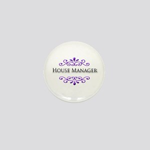 House Manager Name Badge Mini Button