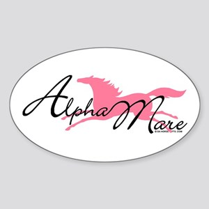 Alpha Mare Saying Oval Sticker