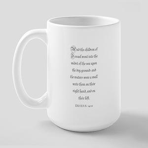 EXODUS  14:22 Large Mug