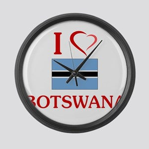 I Love Botswana Large Wall Clock