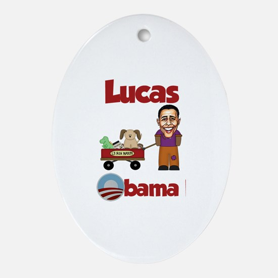 Lucas - an Obama Kid Oval Ornament