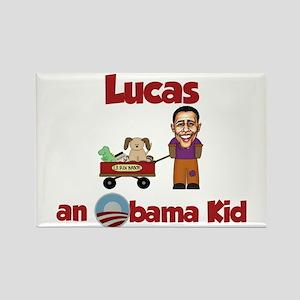Lucas - an Obama Kid Rectangle Magnet