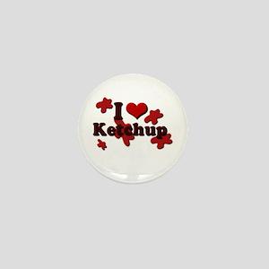 I Love Ketchup Mini Button