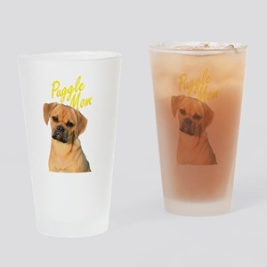 Puggle Mom Gift for Dog Owners Drinking Glass