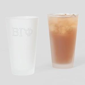 BRO Fake Fraternity Design Beta Gam Drinking Glass