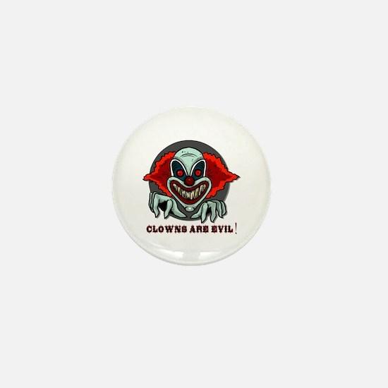 Clowns are Evil Mini Button