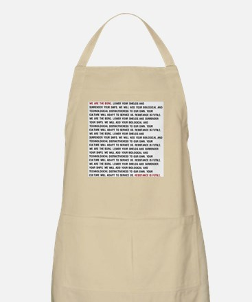 We are the BORG (Repeating) BBQ Apron