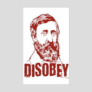Thoreau Disobey Rectangle Sticker