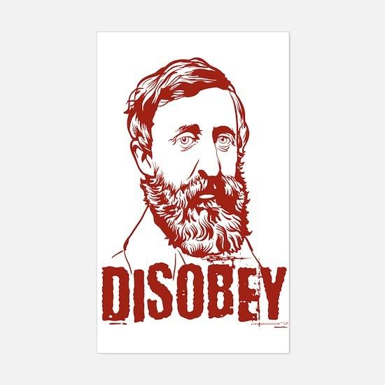 Thoreau Disobey Rectangle Decal