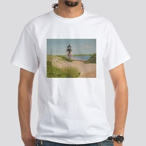 Brandt Point Lighthouse - Nantucket T-Shirt