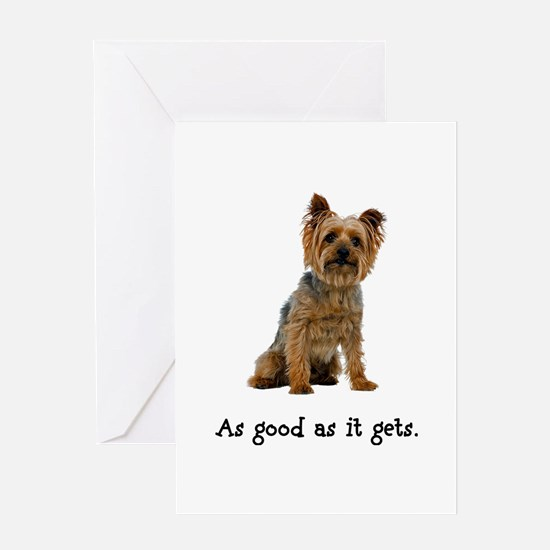 Good Silky Terrier Greeting Card