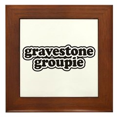 Gravestone Groupie Framed Tile